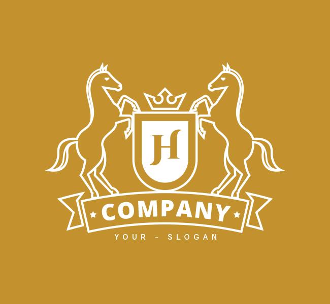 Horse-Shield-Pre-Designed-Logo