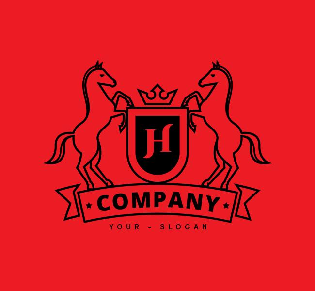 Horse-Shield-Stock-Logo