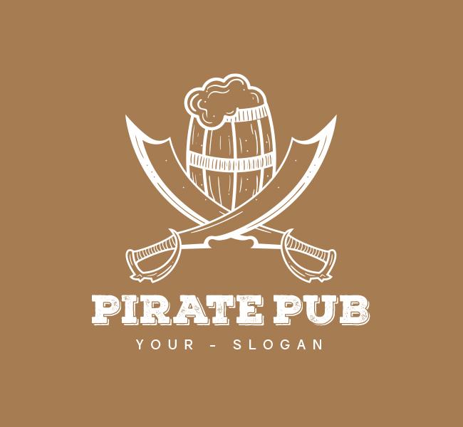 Pirate Pub-Pre-Designed-Logo