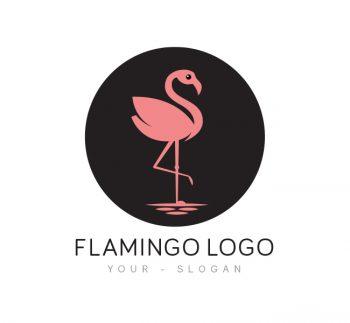 Pink Flamingo Logo & Business Card Template