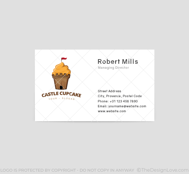 Castle-Cupcake-Business-Card-Template-Front