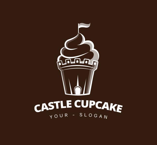 Castle-Cupcake-Pre-Designed-Logo