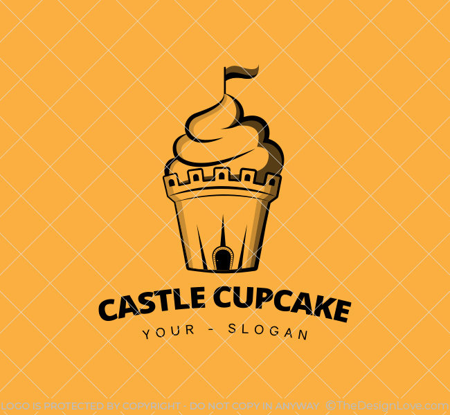 Castle-Cupcake-Stock-Logo