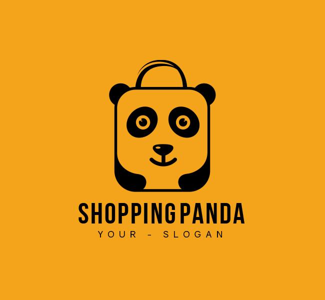 Shopping-Panda-Stock-Logo