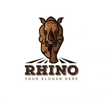 The Rhino Logo & Business Card Template