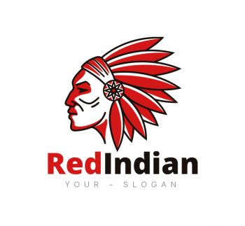 Red Indian Face Logo & Business Card