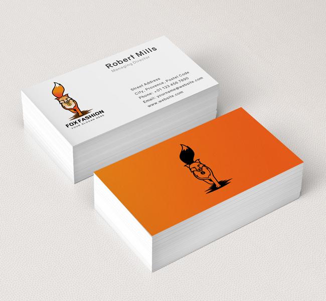Fashion-Fox-Business-Card-Mockup
