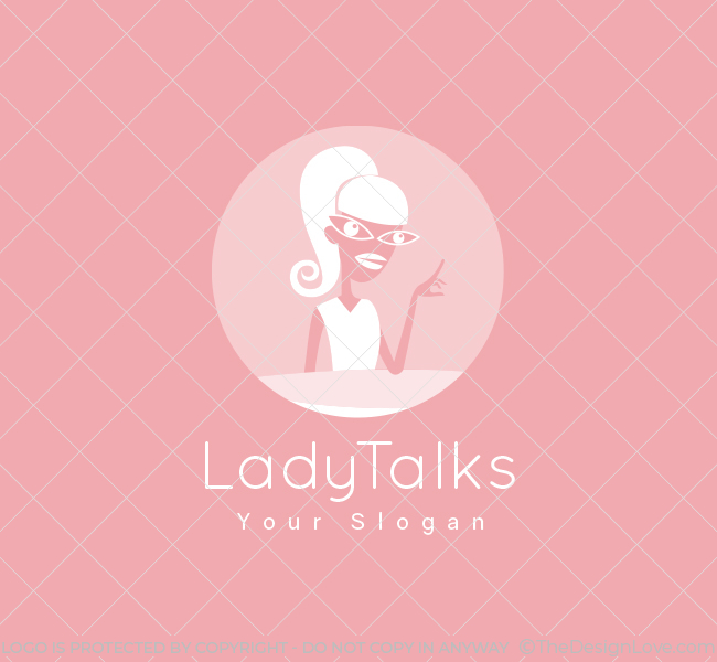 Lady-Talk-Pre-Designed-Logo