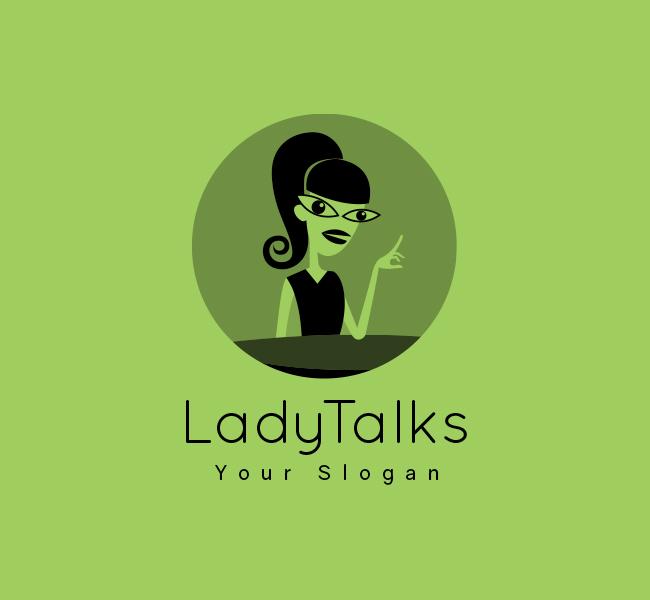 Lady-Talk-Stock-Logo