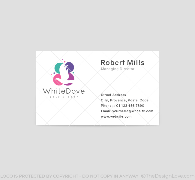 White-Dove-Business-Card-Front