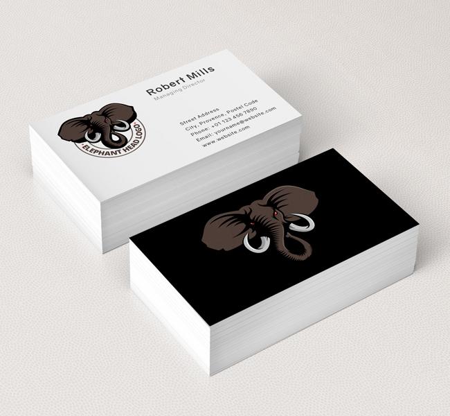Elephant-Head-Business-Card-Mockup