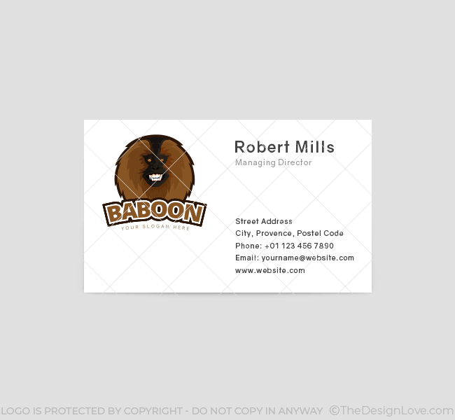 Baboon-Logo-Business-Card-Front