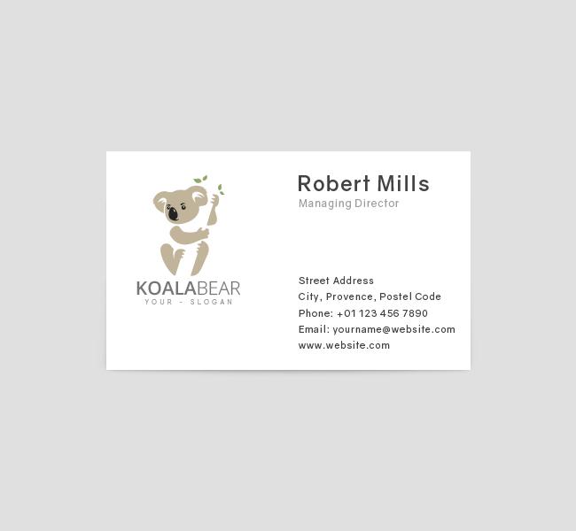 Koala-Logo-Business-Card-Front