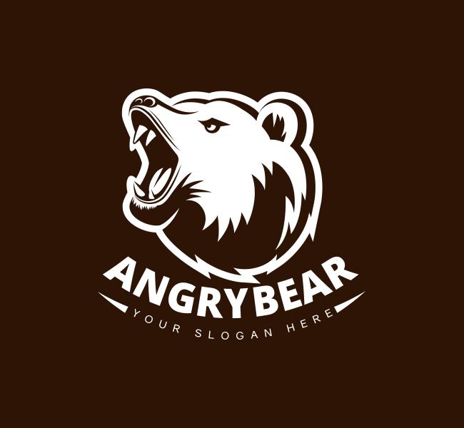 Angry-BearPre-Designed-Logo