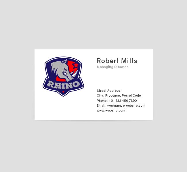 Rhino-Mascot-Business-Card-Front