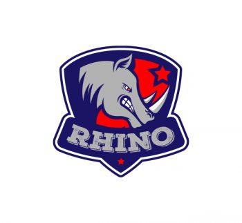 Rhino Mascot Logo & Business Card