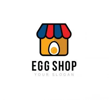 Egg Shop Logo & Business Card Template