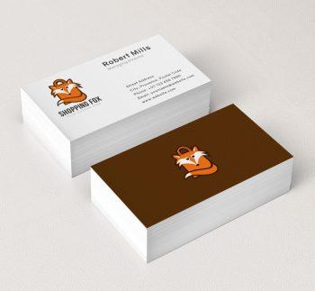 Shopping-Fox-Business-Card-Mockup
