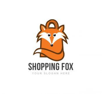 Shopping Fox Logo & Business Card Template