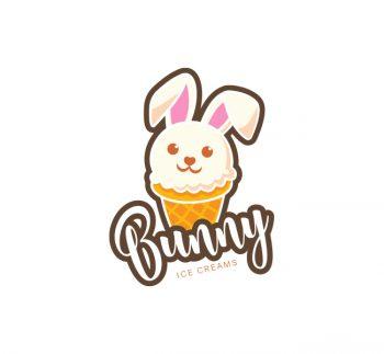 Bunny Ice Cream Logo & Business Card Template