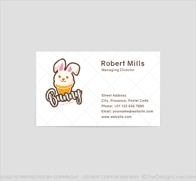 Bunny-Ice-cream-Business-Card-Front