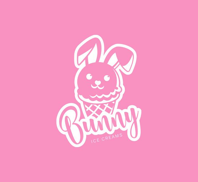 Bunny-Ice-cream-Pre-Designed-Logo