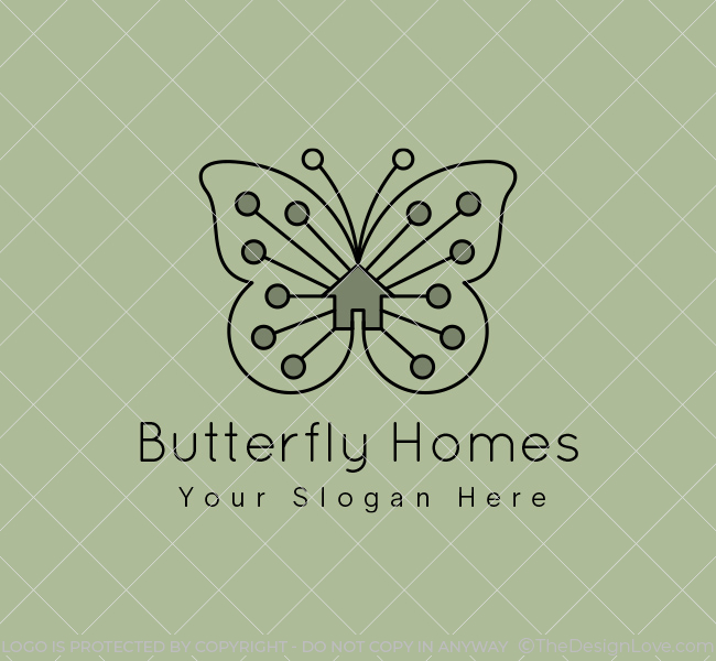 Butterfly-Homes-Real-Estate-Pre-Designed-Logo