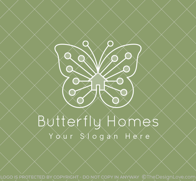 Butterfly-Homes-Real-Estate-Stock-Logo