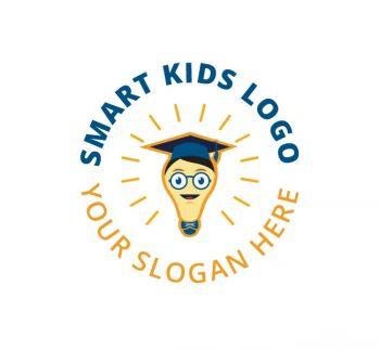 Smart Kids Logo & Business Card Template