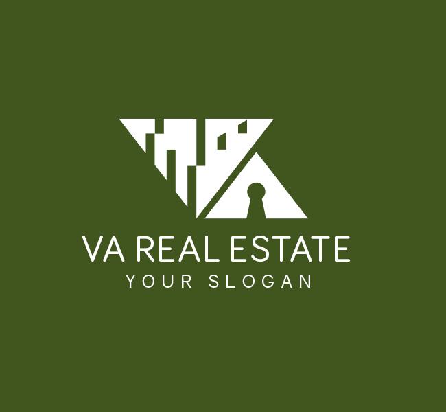 Alphabet-VA-Real-Estate-Pre-Designed-Logo
