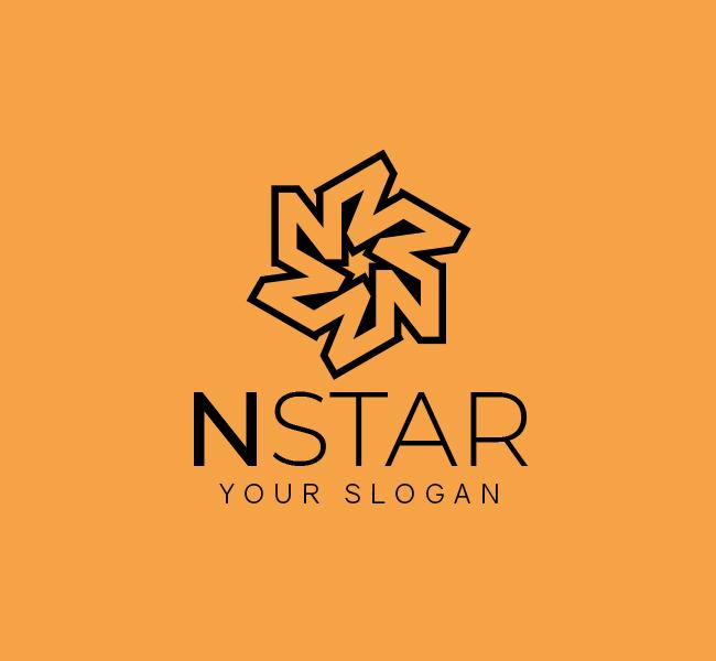 N-Star-Logo-Restaurant-Stock-Logo