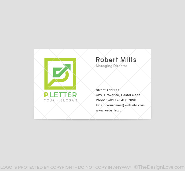 P-Letter-Business-Card-Front
