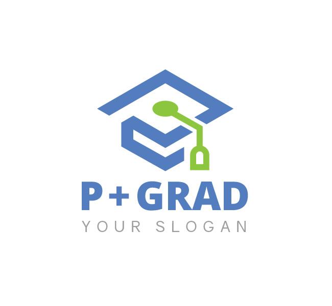 P-Graduation-Cap-Logo
