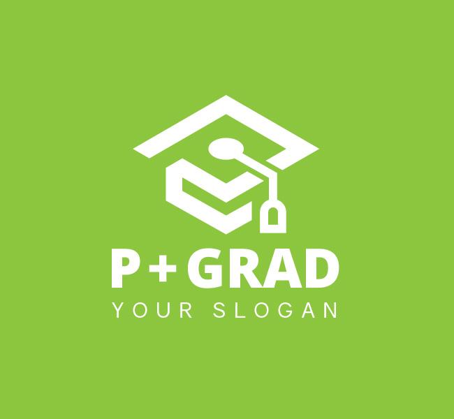 P-Graduation-Cap-Pre-Designed-Logo