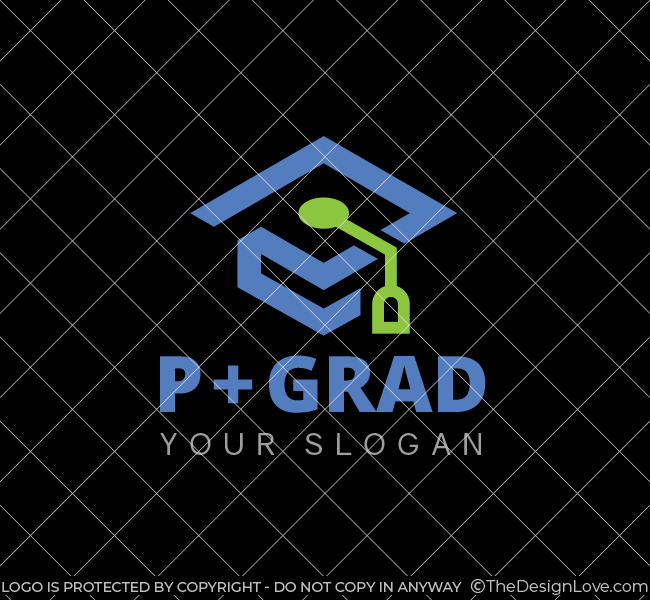 P-Graduation-Cap-Start-up-Logo