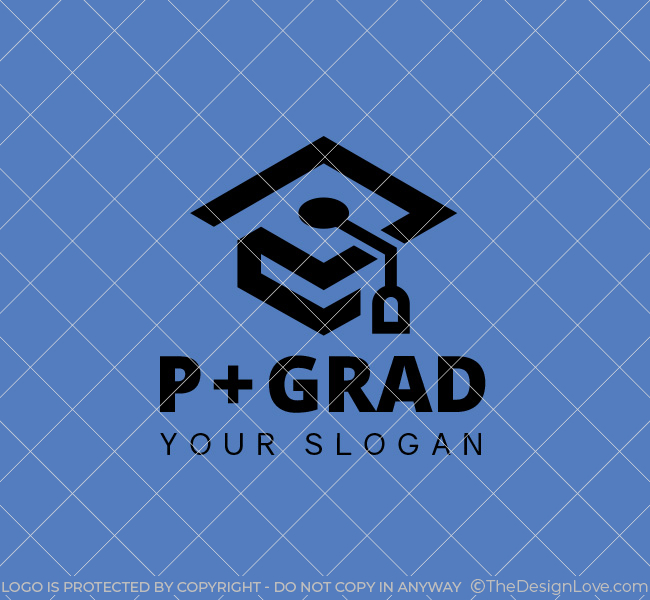 P-Graduation-Cap-Stock-Logo