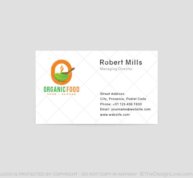 O-Letter-Organic-Food-Business-Card-Front