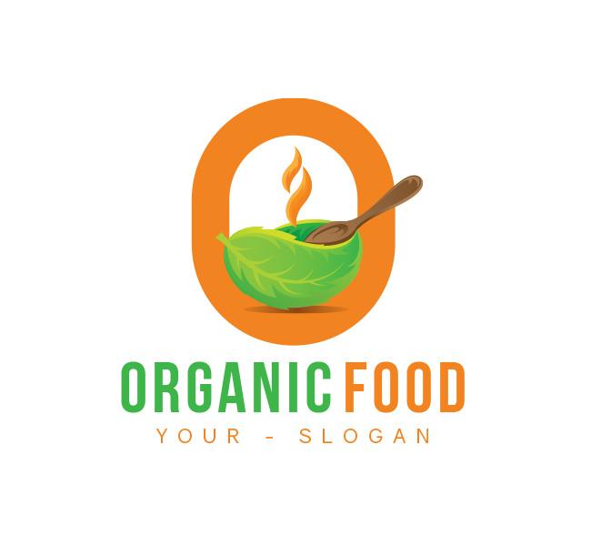 O-Letter-Organic-Food-Logo-Template