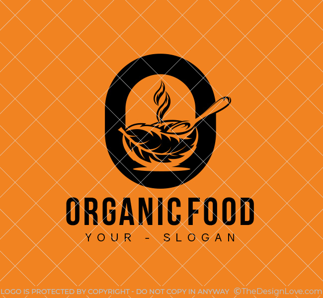 O-Letter-Organic-Food-Stock-Logo