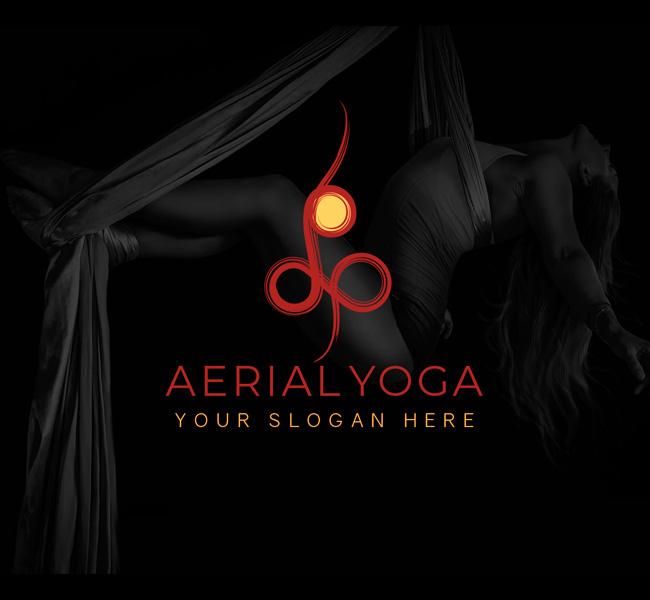 Simple-Aerial-Yoga-Affordable-Logo
