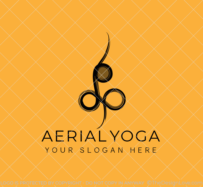 Simple-Aerial-Yoga-Stock-Logo