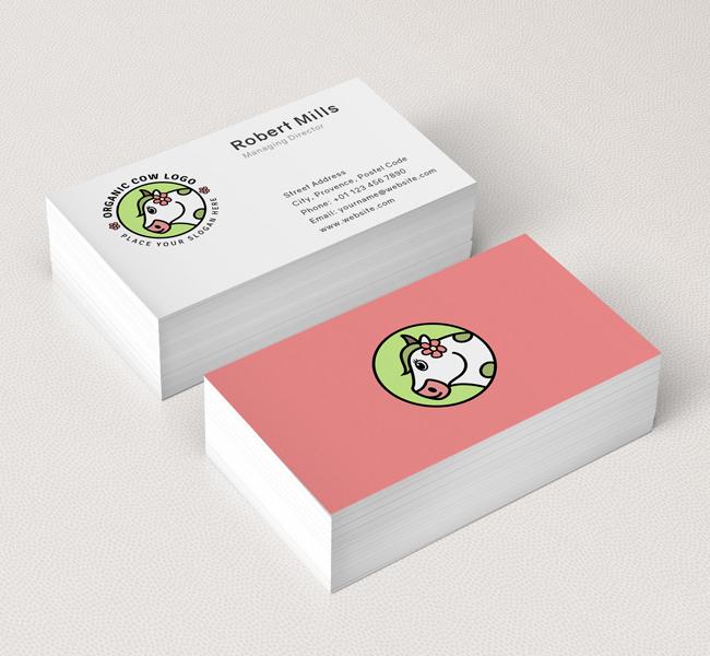 Organic-Cow-Business-Card-Mockup