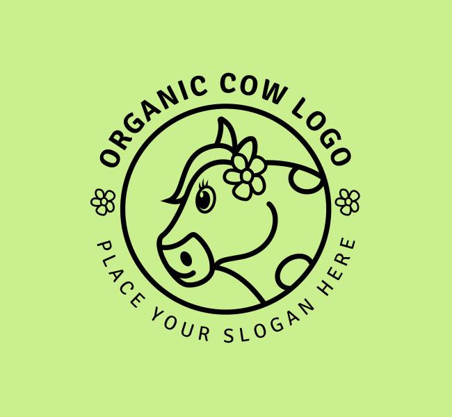 Organic-Cow-Stock-Logo