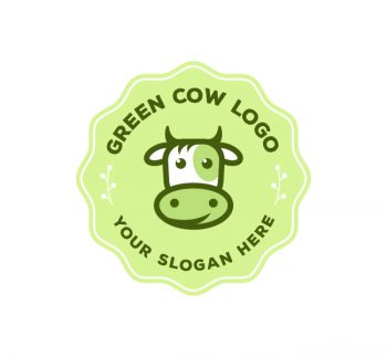Eco Cow Logo & Business Card Template