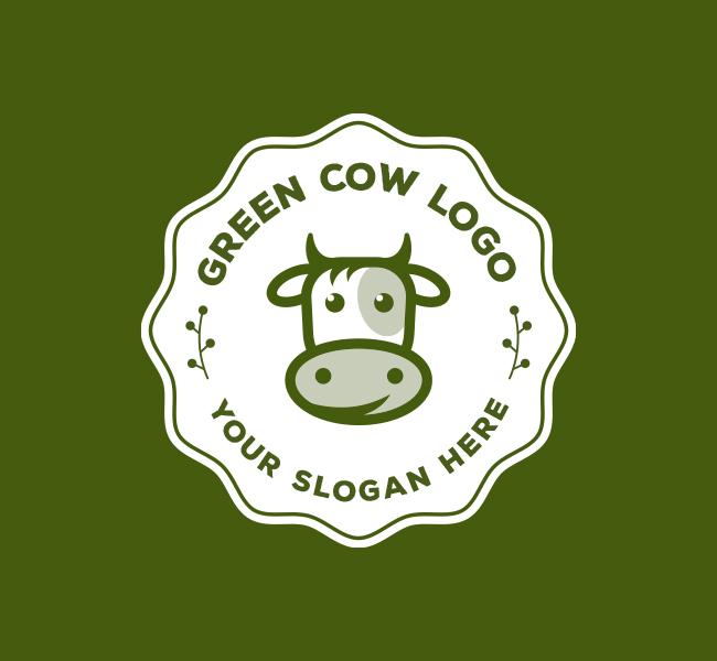 Eco-Cow-Pre-Designed-Logo