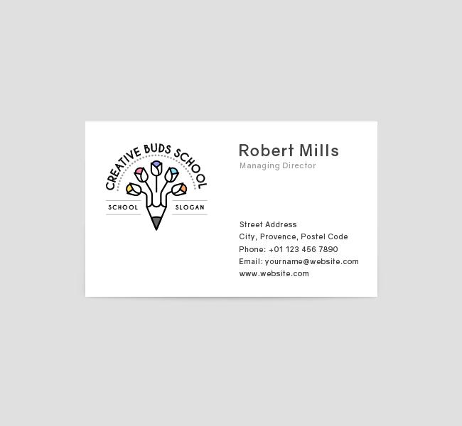 Creative-Buds-Preschool-Business-Card-Front