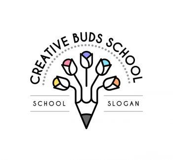 Creative Buds Preschool Logo & Business Card