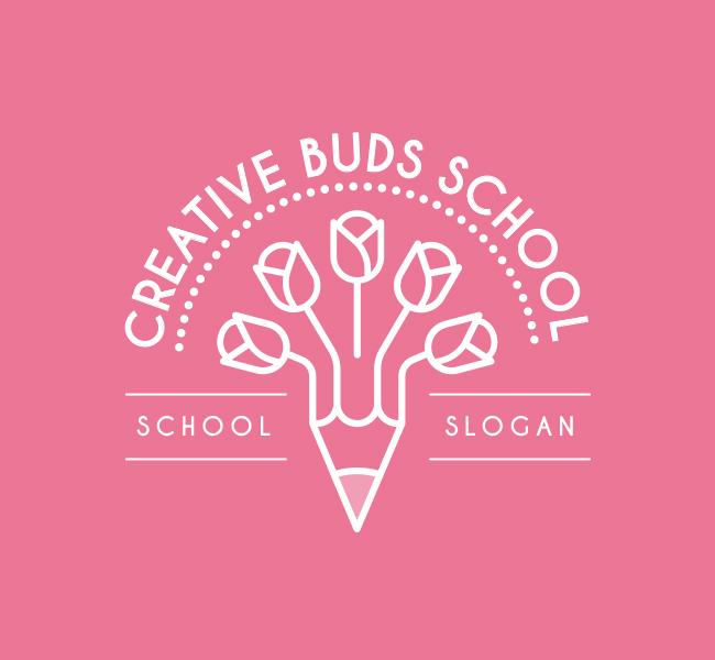 Creative-Buds-Preschool-Pre-Designed-Logo