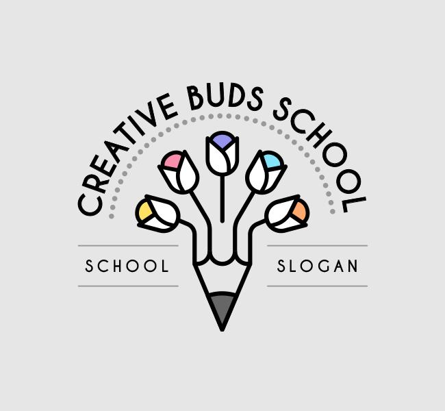 Creative-Buds-Preschool-Startup-Logo