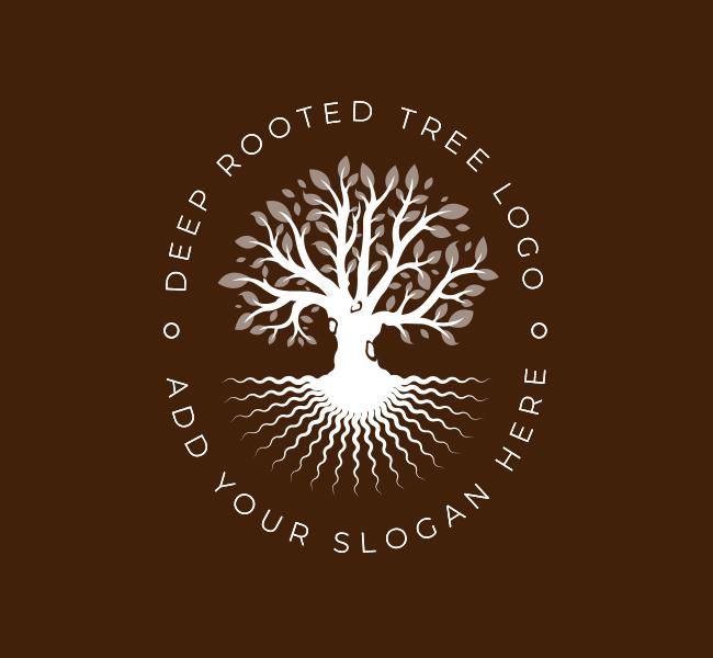 Deep-Root-Tree-Pre-Designed-Logo